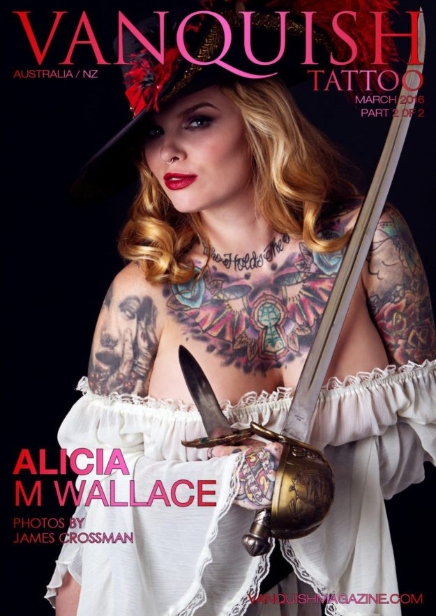 Vanquish Tattoo Magazine – March 2016 – Alicia M Wallace