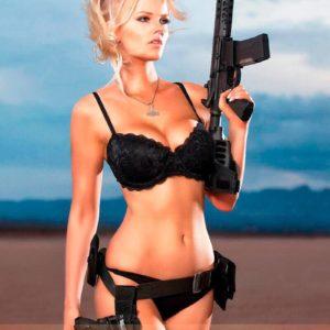 Vanquish Magazine – Girls With Guns – Zienna Eve