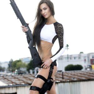 Vanquish Magazine – Girls With Guns – Lizzeth Acosta