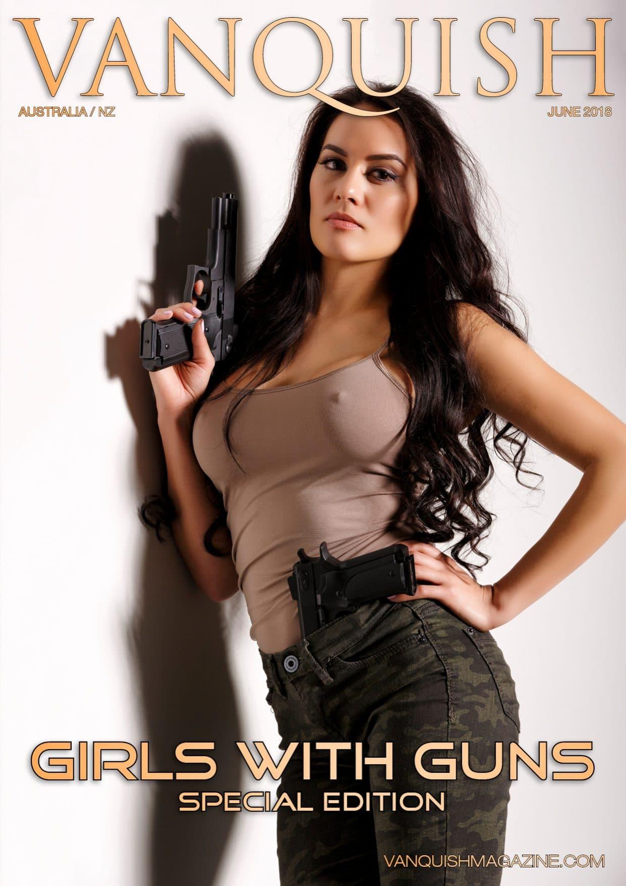 Vanquish Magazine – Girls with Guns – Sarah Maria Paul